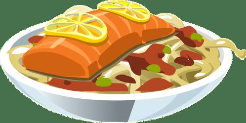 fish clipart food salmon pixabay dinner transparent plate meal vector italian dishes seafood graphic lemon lasagna wonder valley comida church