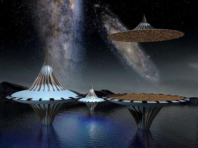 Water Animation Wallpaper Free Illustration Spaceship Ufo Space Galaxy Star