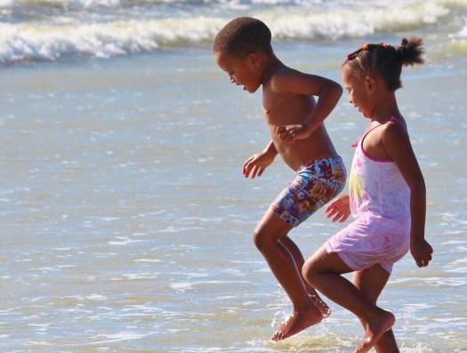 Bambini, Ascolta, Spiaggia, Acqua, Mare, Divertimento