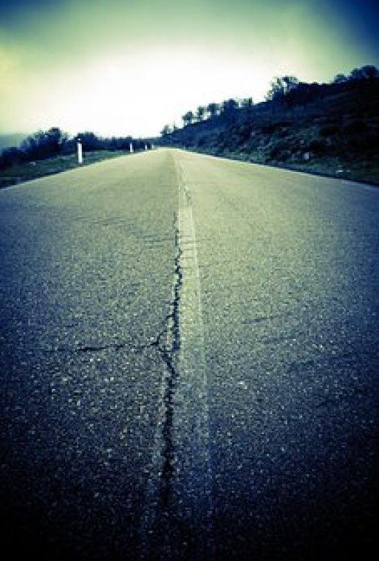 Country Road, Asphalt, Road, Tar, Field