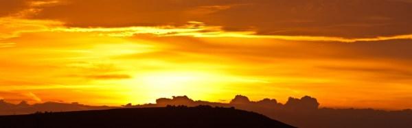 Free photo Sunrise Orange Yellow Black Sun Free