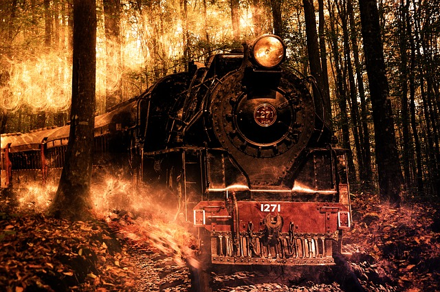 Lonely Girl Wallpaper Free Photo Locomotive Composition Photoshop Free