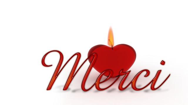 Illustration Gratuite Merci Coeur Bougie Mche Image