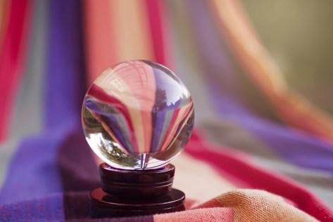 ボール, ガラス, について, 反射, ミラー, カラフル, 占い, マジック, 占い師, 占星術, 美しい