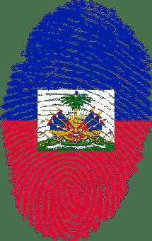 Haïti, Drapeau, Empreintes Digitales