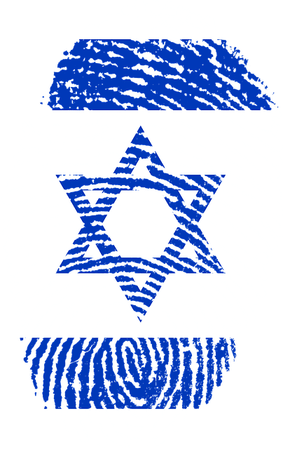 Free Illustration Israel Flag Fingerprint Country