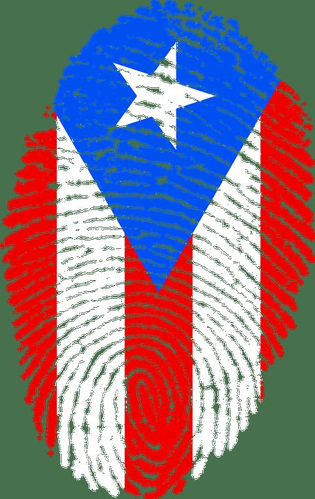 puerto rico flag fingerprint