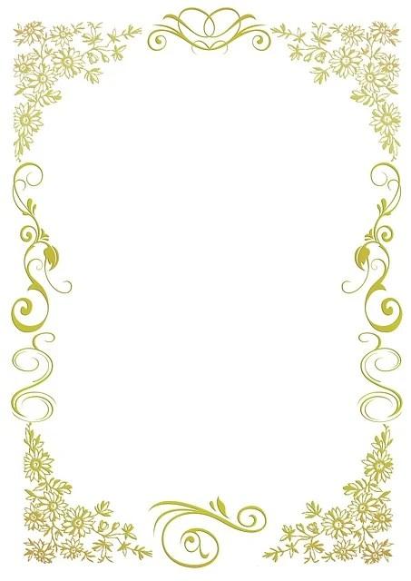 Briefpapier Floral Gold  Kostenloses Bild auf Pixabay