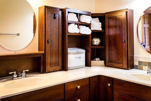 modern walnut cabinets