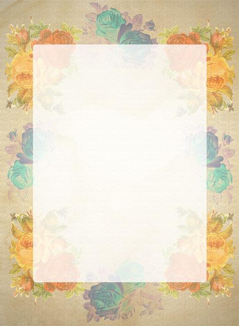 Briefpapier Rosen Retro  Kostenloses Bild auf Pixabay