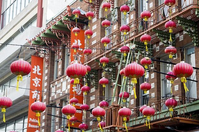 Girl And Boy Romantic Wallpaper Chinatown Lantern San Francisco 183 Free Photo On Pixabay