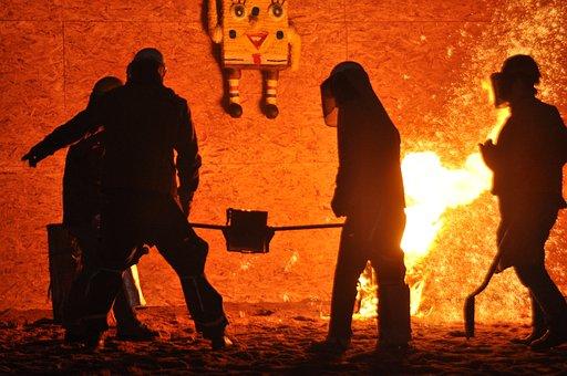 Fire, Molten Metal, Metallurgy, Foundry