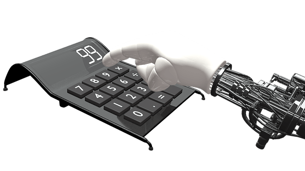 Calculator, Hand, Robot, Count, Machine
