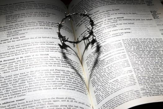 Amore, È Morto, Croce, Spine, Corona, Cuore, Bibbia