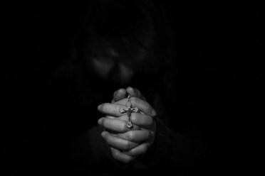 悲しみ, 許し, 悲しい, 人, キリスト教, 宗教, 信仰, 精神的です, 祈る, 女性, 感情, 希望