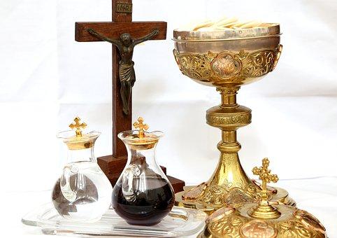 Cross, Crucifix, Chalice, Wine, Water