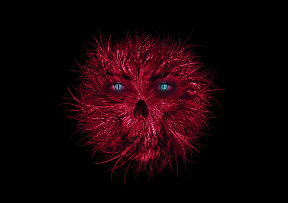 Free Illustration Monster Red Eyes Aggressive Free
