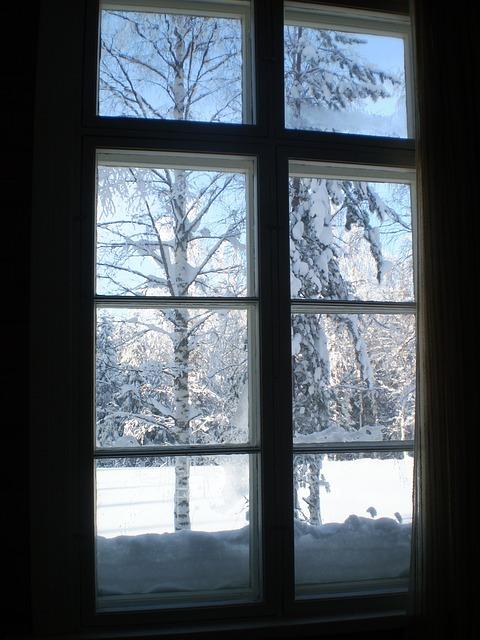Free Falling Snow Wallpaper Free Photo Winter Window View Snow Cold Free Image