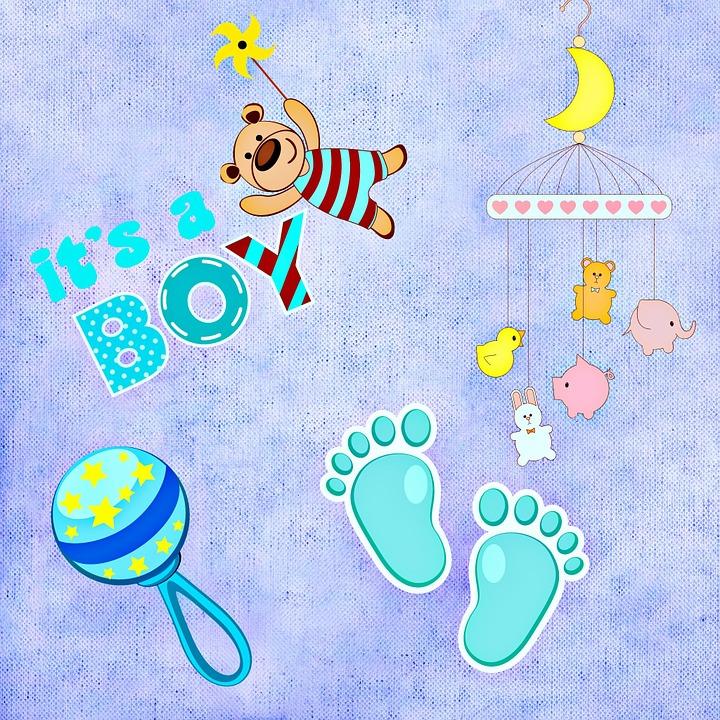 Baby Birth Boy Greeting  Free image on Pixabay