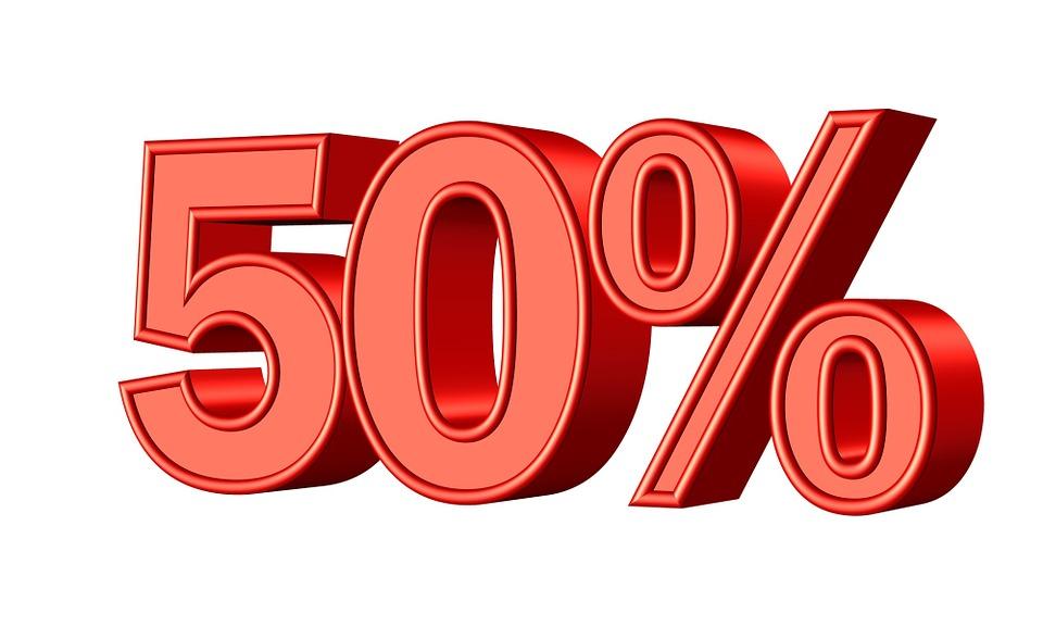 fifty 50 percent free