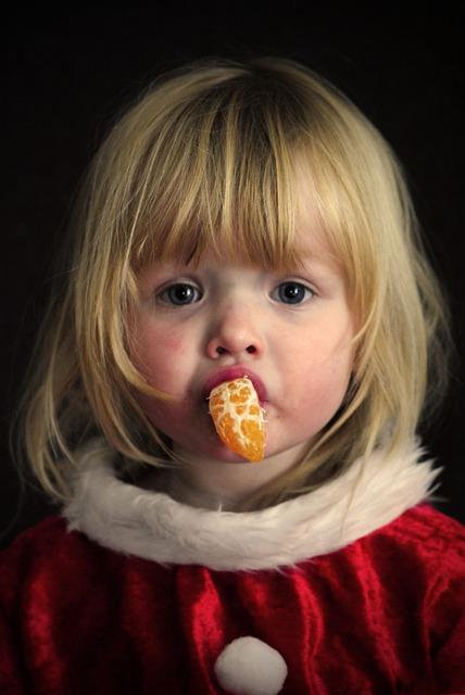Free Photo Girl Portrait Christmas Orange Free Image