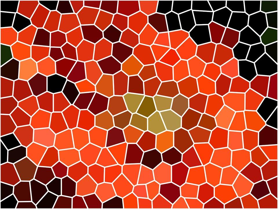 马赛克, 结构, 模式, 背景, 纹理, 马赛克瓷砖, 丰富多彩, 橙, 陶瓷砖, 布朗的阴影, 颜色, 布朗