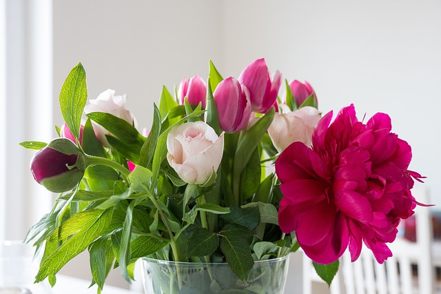 Free Photo Flowers Peony Tulips Roses Free Image On