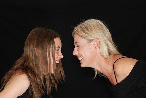 Laughter, Laugh, Fun, Mom, Daughter