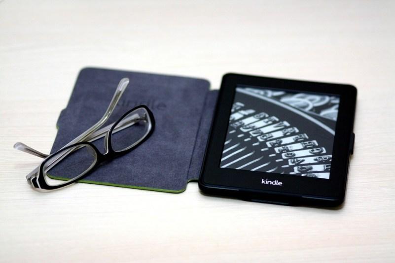 Kindle, Bianco Carta, Libro, Dispositivo, Occhiali
