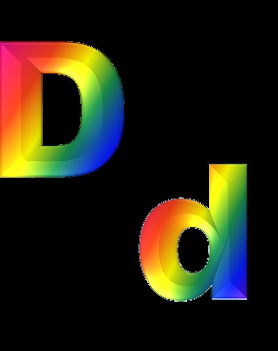 letter d 3d free