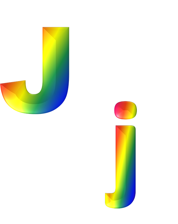 Letter J Designs In Heart