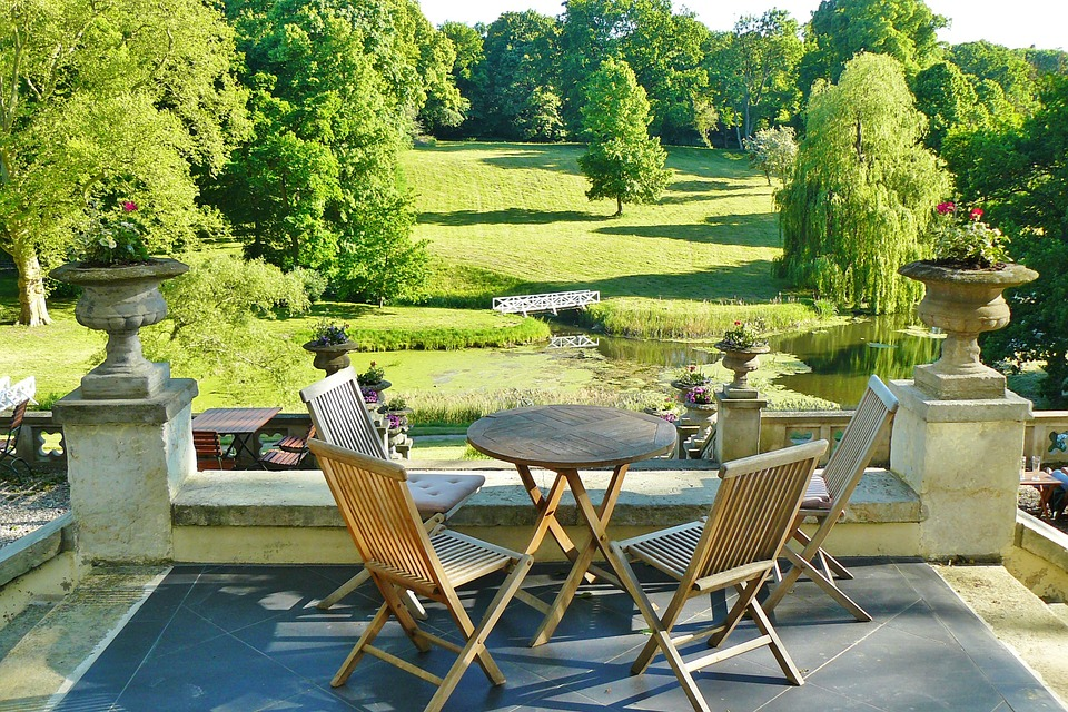 Castle Park, Hotel, Teras, Taman, Idilis, Romantis