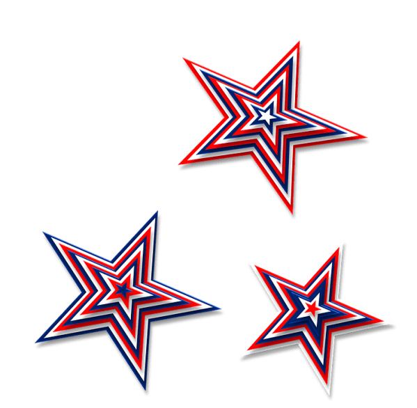 free illustration stars 3d red