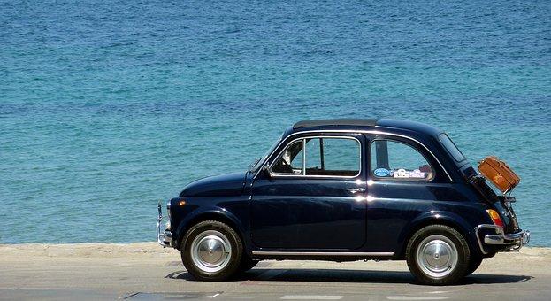 Auto, Fahrzeug, Oldimer, Fiat, 500