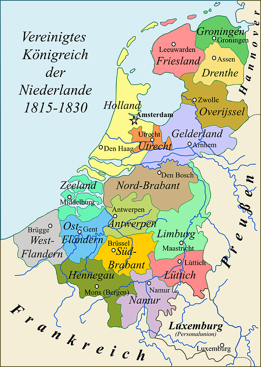 Map Netherlands Kingdom 183 Free vector graphic on Pixabay