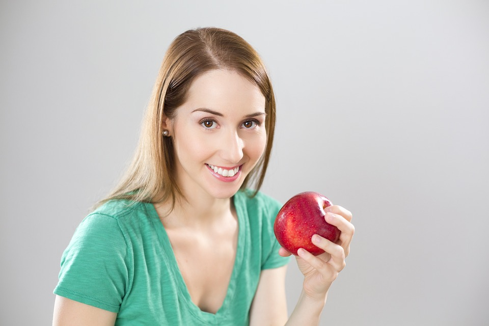 Apple, Health, Woman, Diet, Meals, Collation, Girl