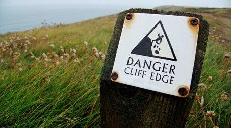Danger, Cliff, Edge, Sign, Warning, Risk