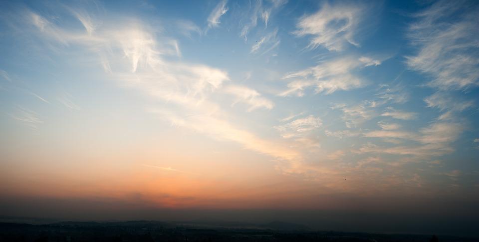 Nuvem Branca Cu Ao Entardecer  Foto gratuita no Pixabay