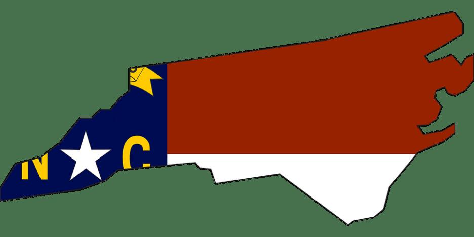 North Carolina, State, Usa, Flag, Map, America