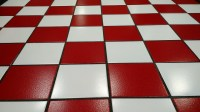 Free photo: Tile, Red, White, Floor, Glossy