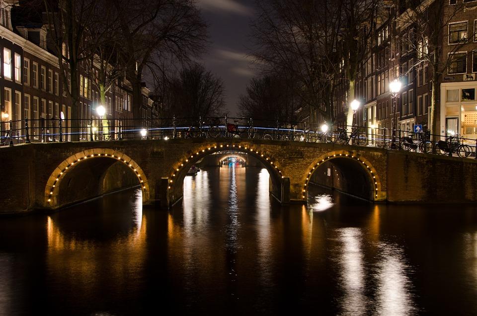 Netherlands Fall Wallpaper Bridge Amsterdam Lights 183 Free Photo On Pixabay