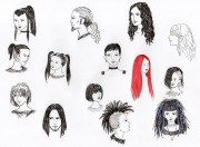 drawing hairstyles heads free
