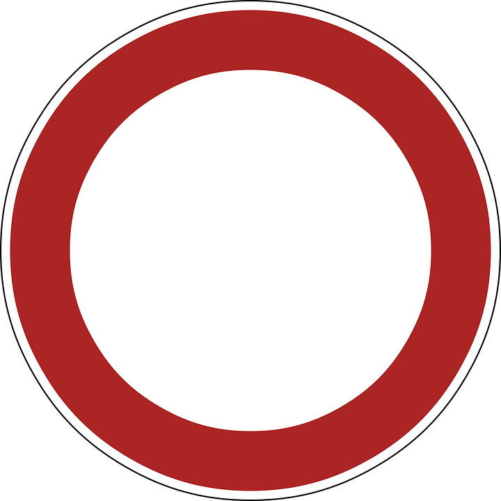 Sign No Vehicles Prohibited Free Vector Graphic On Pixabay