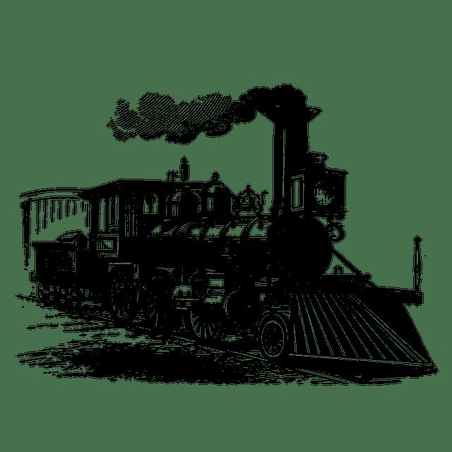 Free illustration: Vintage, Locomotive, Train, Drawing