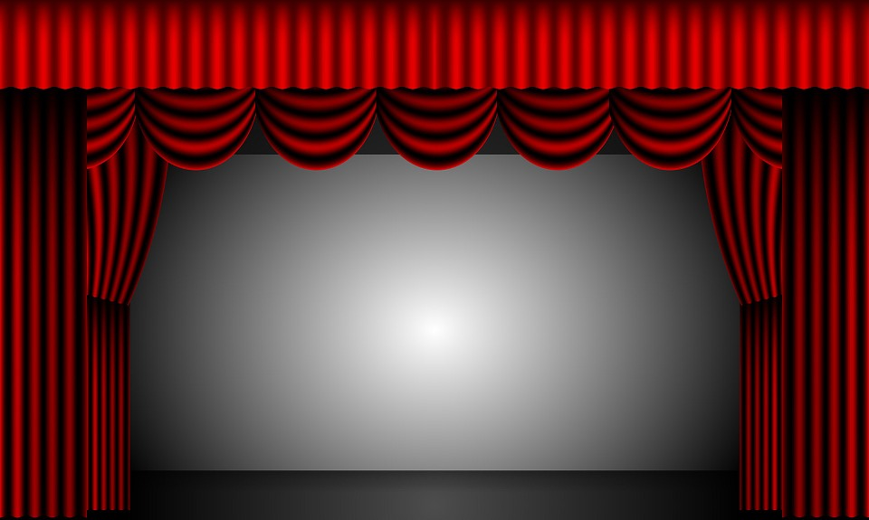 Free Illustration Theatre Curtains Stage Drapes Free Image