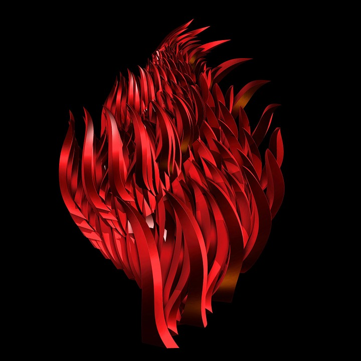 abstract flames red fire