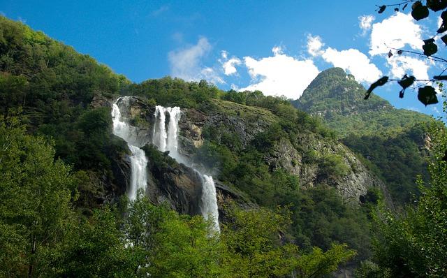 Snow Falling Gif Wallpaper Alps Cascade Waterfall 183 Free Photo On Pixabay