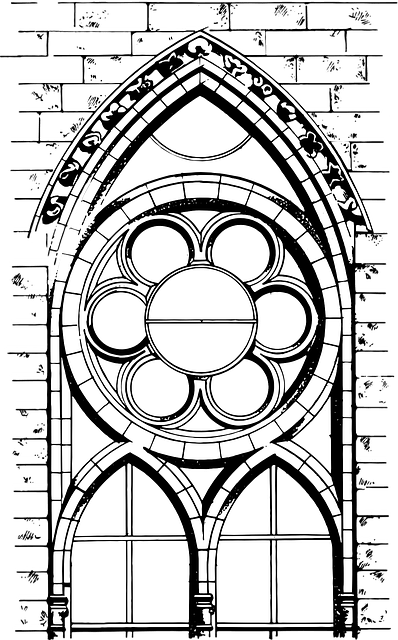 Drawing Cathedral Architecture · Free vector graphic on