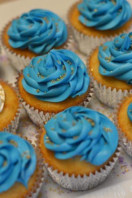 Cupcake Dessert Blue 183 Free Photo On Pixabay