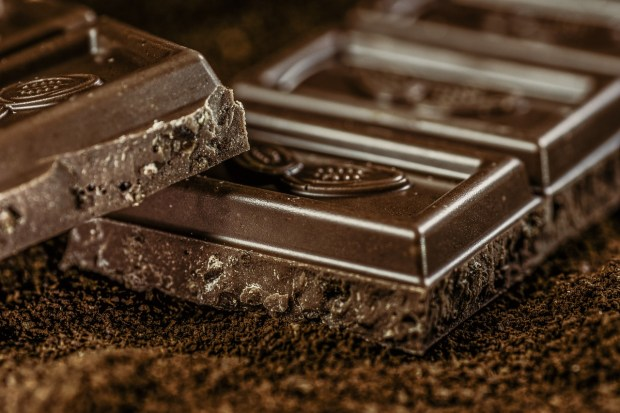 Dark chocolate stimulates the production of endorphins and makes one feel better.